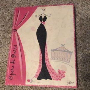 Other - Girlie Paris Eiffel Tower Pink Cream Canvas Print